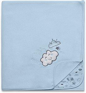 Manta Soft Nevoa Azul - Hug