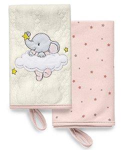 Kit com 2 Babinhas Brilha Brilha Estrelinha Rosa - Hug