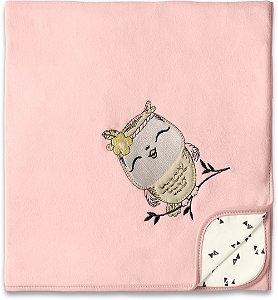 Manta Soft Floresta Encantada Rosa - Hug