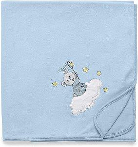 Manta Soft Brilha Brilha Estrelinha Azul - Hug