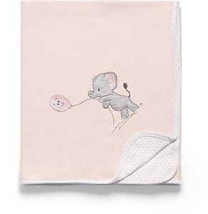 Manta Suedine Lembranças de Infância Rosa - Hug