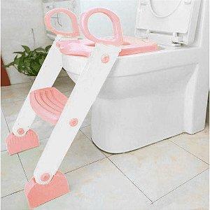 Redutor Sanitário com Escada Rosa - KaBaby