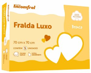Fralda Liso Branco - Incomfral