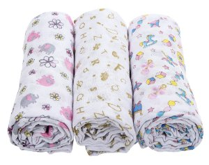 Kit Swaddle Rosa - Incomfral
