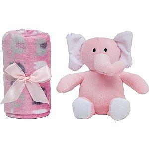 Manta Elefantinho Rosa - Buba