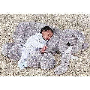 Elefante Baby Cinza M - Bichos de Pelúcia