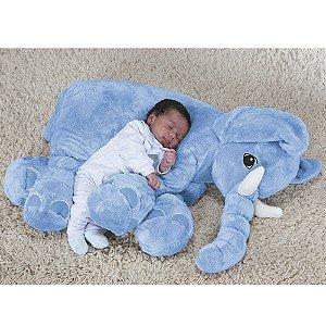 Elefante Baby Azul G - Bichos de Pelúcia
