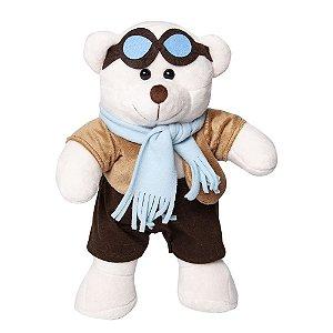 Urso Aviador G - Bichos de Pelúcia