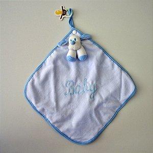 Blanket Cetim Listrado Azul - Zip Toys