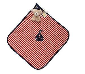 Blanket Marinheiro Listrado Vermelho - Zip Toys