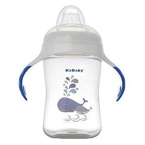 Copo Bico de Silicone Baleia Azul - KaBaby