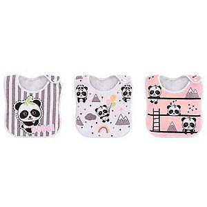 Pack Babadores Panda Rosa - Colibri
