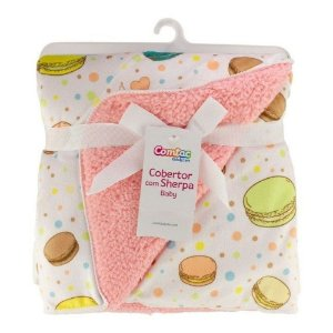 Cobertor com Sherpa Baby Macarron - Comtac