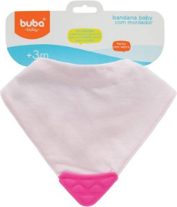 Bandana Baby com Mordedor Rosa - Buba