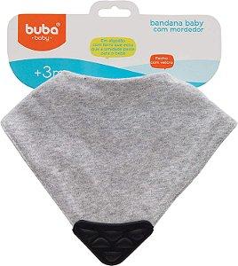 Bandana Baby com Mordedor Cinza - Buba