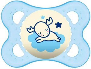 Chupeta Night 0 - 6 Meses Azul Single Box - MAM