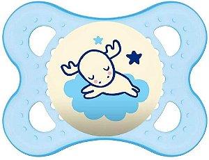 Chupeta Night 0 - 6 Meses Azul Single Box - MAM