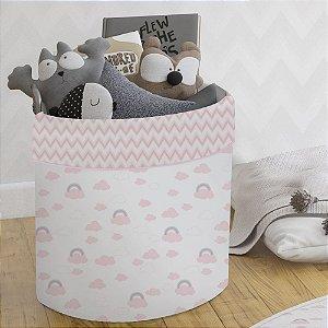 Cesto Organizador para Brinquedos Arco-Íris - Papi Baby