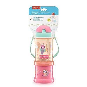 Copo com Porta Snack Playfyl Rosa - Multikids