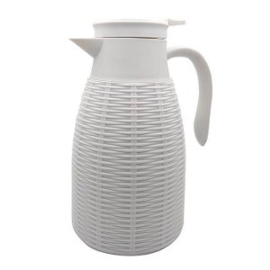 Garrafa Térmica de Plástico Rattan Branca 1L - Lyor