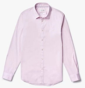 Camisa Social Masculina Lacoste Popeline Slim Fit Ch5366