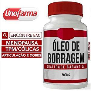 ÓLEO DE BORRAGEM 500MG 60 CÁPSULAS - MENOPAUSA - TPM - CÓLICAS -ARTICULAÇÃO E DORES