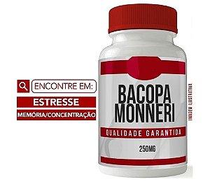 BACOPA MONNIERI 250MG 60 CÁPSULAS - ANTI ESTRESSE - MEMÓRIA E CONCETRAÇÃO