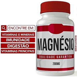 MAGNÉSIO QUELATO 200MG 60 DOSES - VITAMINA E MINERAL - IMUNIDADE - DISGESTÃO