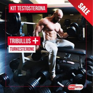 KIT TESTOSTERONA - TRIBULUS TERRESTRIS 500MG 60 CÁPSULAS + TURKESTERONE 500MG 30 CÁPSULAS