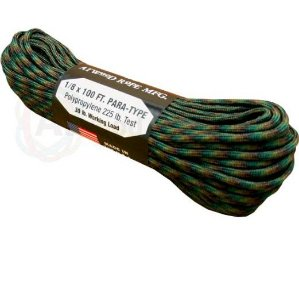 PARACORD 550 4MM FABRICADO NOS EUA 10 METROS - WOODLAND