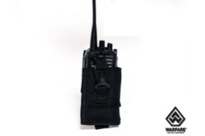 PORTA RADIO WARFARE POLICE MOLLE BLACK