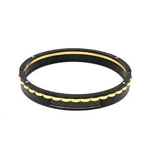 Bracelete Preto Aço