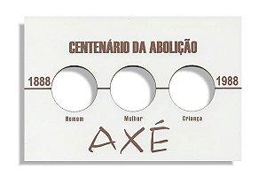 Placa de Madeira para série de moedas do Axé