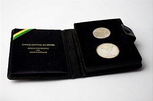 Série de moedas comemorativas 1972 Prata e Níquel