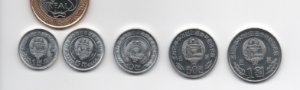 Set Moedas Coreia do Norte