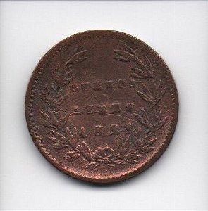 Moeda de 5 decimos de real 1827 - Buenos Aires (Argentina)