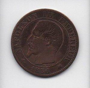 Moeda de 5 centimes 1856 - França