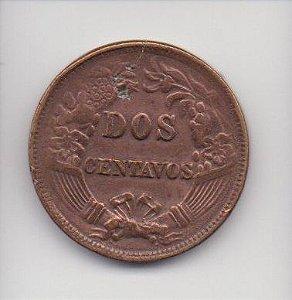 Moedas de 2 centavos de 1877 - Peru