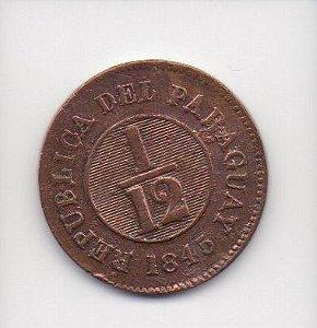 Moeda de 1/12 de real de 1845 - Paraguay(2)