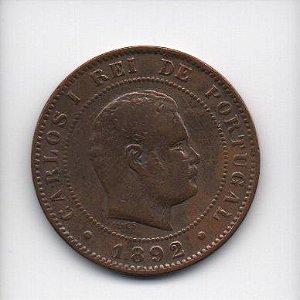 Moeda de 10 Reis de 1892 - Portugal