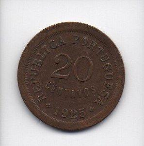 Moeda de 20 centavos de 1925 - Portugal