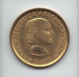 Moeda de 50 centavos de 1997 Argentina Eva Peron