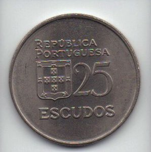 Moeda de 25 escudos de 1981 Portugal