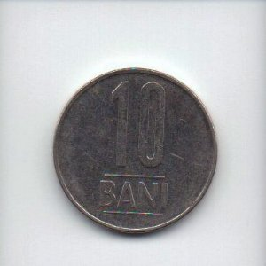 Moeda de 10 bani de 2015 da Romênia
