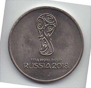 Moeda de 25 rublos 2018 Russia