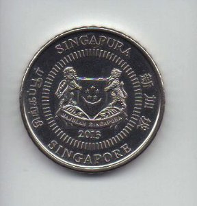 Moeda de 50 cents de 2013 de Singapura