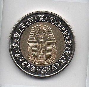 Moeda de 1 Libra de 2008 do Egito