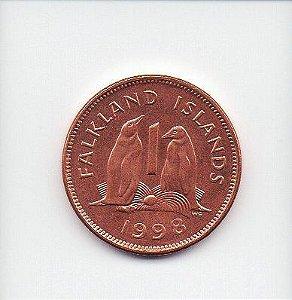Moeda de 1 Penny de 1998 das Ilhas Falkland