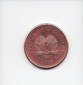Moeda de 1 Toea de 2004 da Papúa Nova Guiné