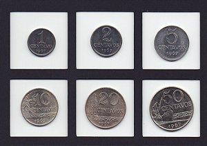 Série de Moedas de Centavos de 1967 do Brasil